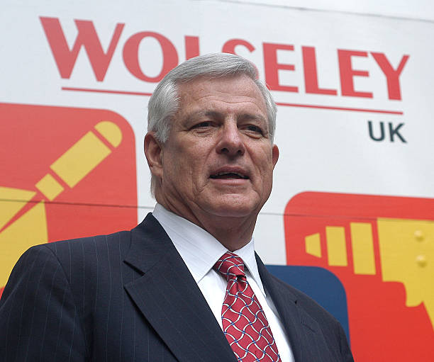 Charlie Banks, chief executive of Wolseley Plc., poses ...