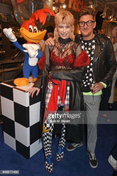 Charlie Barker and Henry Holland attend the launch of the House of Holland x Woody Woodpecker London Fashion Week pop up at Fenwick Of Bond Street on...