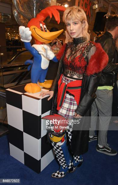 Charlie Barker attends the launch of the House of Holland x Woody Woodpecker London Fashion Week pop up at Fenwick Of Bond Street on September 13...