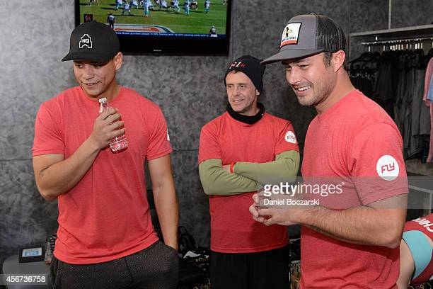Charlie Barnett David Eigenberg and Taylor Kinney attend as the casts of Chicago Fire and Chicago PD participate in a Flywheel Sports ride to benefit...