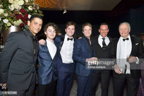 Charlie Barnett Wyatt Oleff Richard Ellis Graham Rogers Andrey Ivchenko and Jon Voight attend the Netflix 2020 Golden Globes After Party on January...