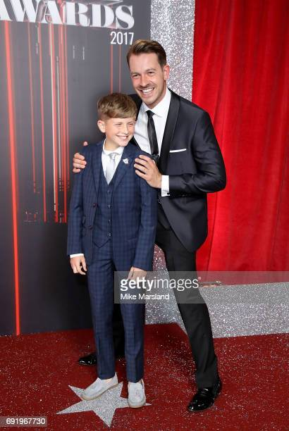 Charlie Behan and Ashley Taylor Dawson attend The British Soap Awards at The Lowry Theatre on June 3 2017 in Manchester England The British Soap...