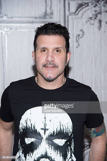 Charlie Benante of the thrash metal band Anthrax attends AOL Build Speaker Series at AOL Studios In New York on January 13 2016 in New York City