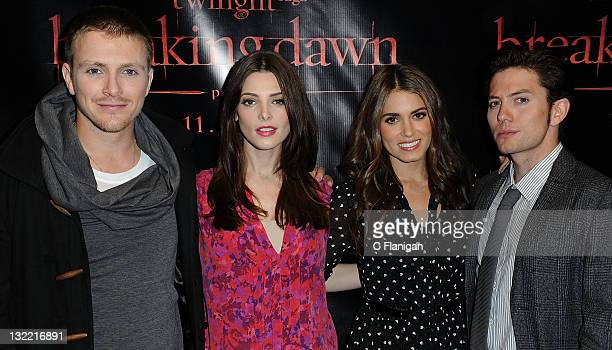 Charlie Bewley Ashley Greene Nikki Reed and Jackson Rathbone attend 'The Twilight Saga Breaking Dawn Part 1' Tour at The Fillmore on November 10 2011...