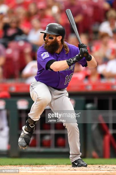 Charlie Blackmon of the Colorado Rockies bats against the Cincinnati Reds at Great American Ball Park on June 5 2018 in Cincinnati Ohio