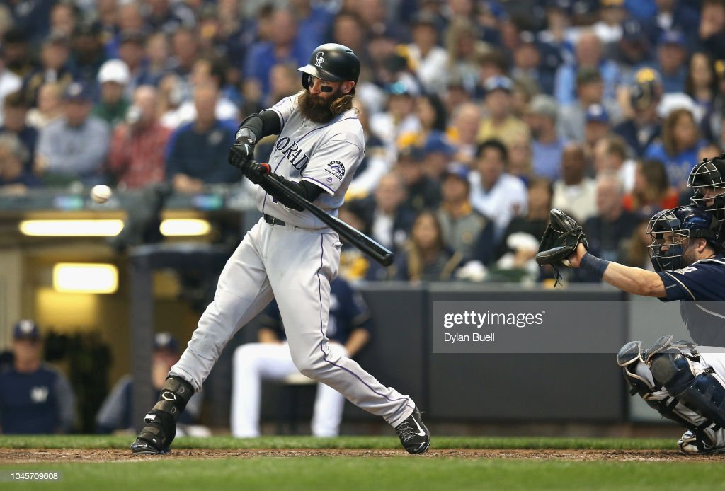 Divisional Round - Colorado Rockies v Milwaukee Brewers - Game One : News Photo