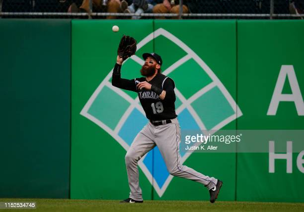 Charlie Blackmon of the Colorado Rockies in action against the Pittsburgh Pirates at PNC Park on May 21, 2019 in Pittsburgh, Pennsylvania.