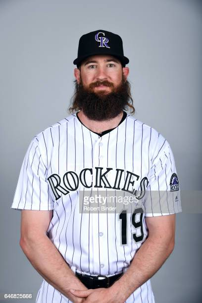 Charlie Blackmon of the Colorado Rockies poses during Photo Day on Thursday February 23 2017 at Salt River Fields at Talking Stick in Scottsdale...