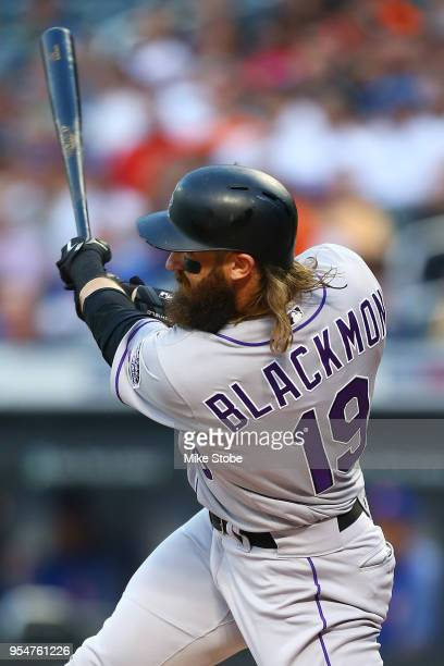 Charlie Blackmon of the Colorado Rockies singles to center in the first inning against the New York Mets at Citi Field on May 4 2018 in the Flushing...