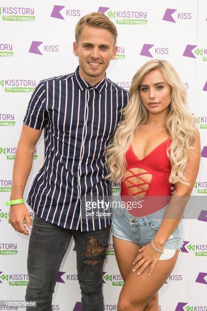 Charlie Brake and Ellie Brown attend Kisstory On The Common 2018 at Streatham Common on July 21 2018 in London England