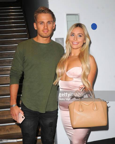 Charlie Brake and Ellie Brown seen at Tom's Kitchen restaurant in Chelsea on August 23 2018 in London England