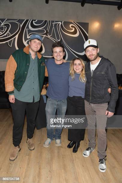 Charlie Brand Jason Ritter Mae Whitman and Ross Marquand attend the Xbox One X Launch Event at 5Church on November 1 2017 in Atlanta Georgia