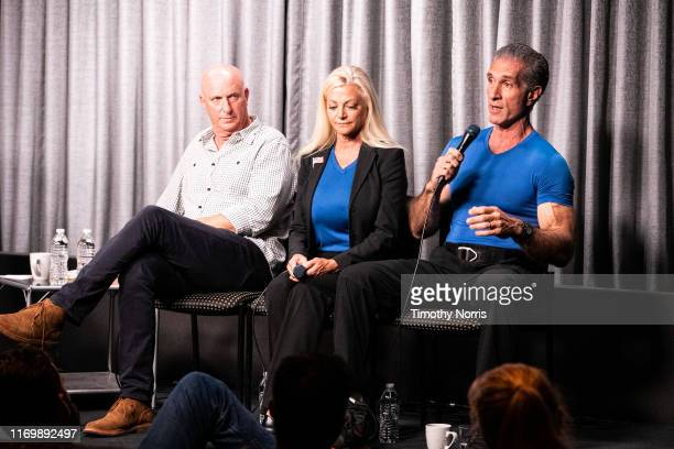 Charlie Brewer Julie Michaels and Peewee Piemonte speak during SAGAFTRA Foundation Conversations Emmy Nominated Stunt Performers at SAGAFTRA...