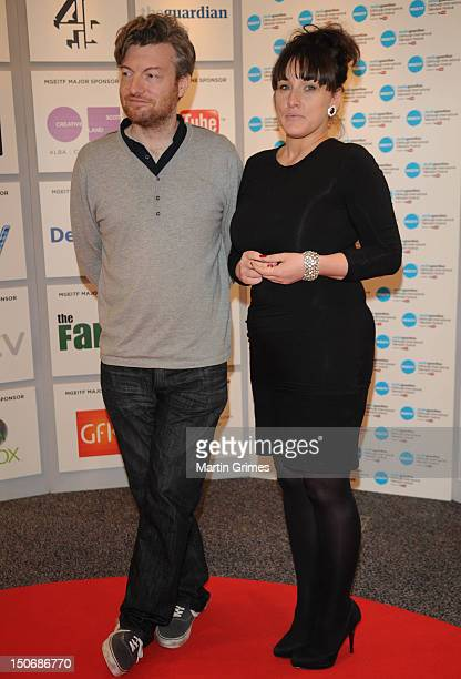 Charlie Brooker and Grace Dent at the MediaGuardian Edinburgh Internatinal Television Festival at International Conference Centre on August 24 2012...