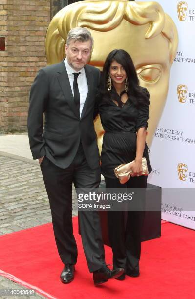 Charlie Brooker and Konnie Huq at the British Academy Television Craft Awards at The Brewery Chiswell Street