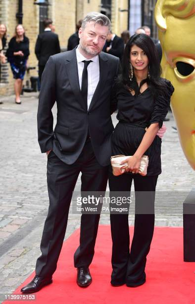 Charlie Brooker and Konnie Huq attending the BAFTA Craft Awards at the Brewery in London