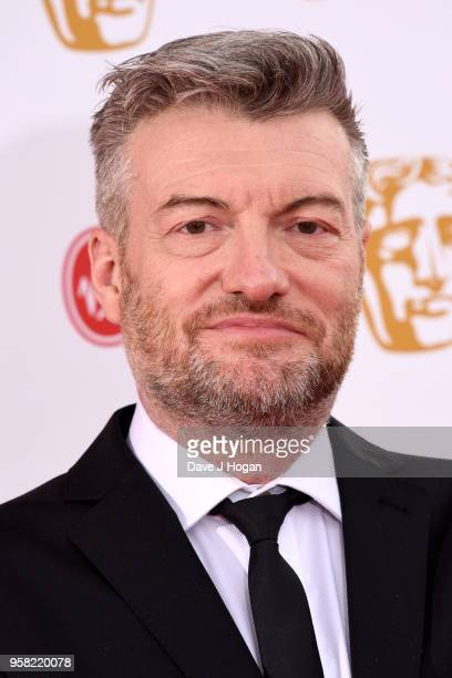 Charlie Brooker attends the Virgin TV British Academy Television Awards at The Royal Festival Hall on May 13, 2018 in London, England.