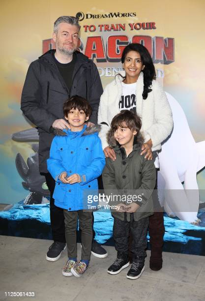 Charlie Brooker Konnie Huq and guests attend How To Train Your Dragon The Hidden World – Immersive Screening on January 26 2019 in London England