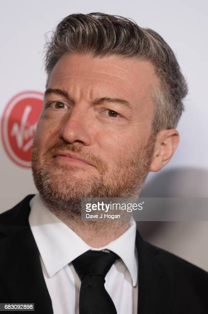 Charlie Brooker poses in the Winner's room at the Virgin TV BAFTA Television Awards at The Royal Festival Hall on May 14 2017 in London England