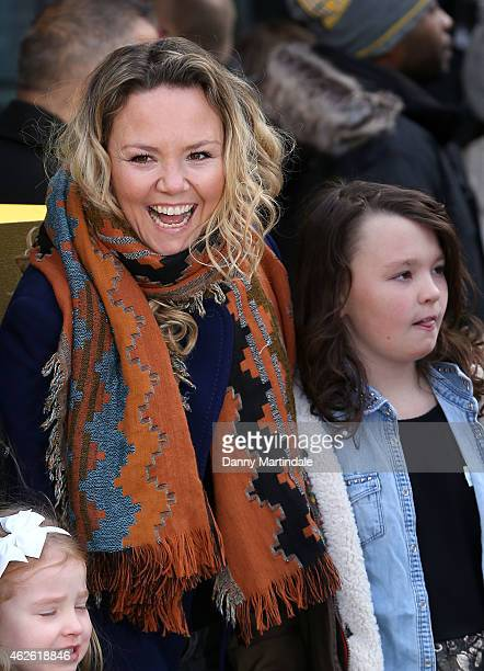 Charlie Brooks and her daughter Kiki BrooksTruman attend the premeire of 'Peppa Pig The Golden Boots' at Odeon Leicester Square on February 1 2015 in...
