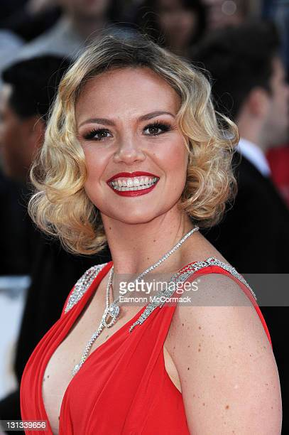 Charlie Brooks arrives on the red carpet for The Philips British Academy Television Awards at Grosvenor House on May 22 2011 in London England