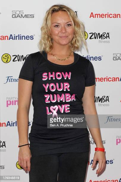 Charlie Brooks attends Pink Zumbathon Party in aid of Breakthrough Breast Cancer at Alexandra Palace on October 16 2011 in London England