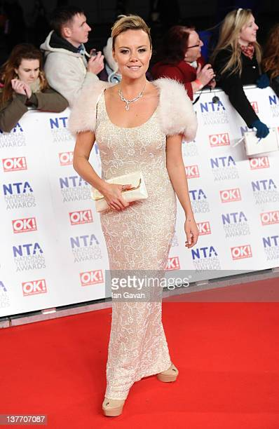 Charlie Brooks attends the National Television Awards 2012 at the 02 Arena on January 25 2012 in London England