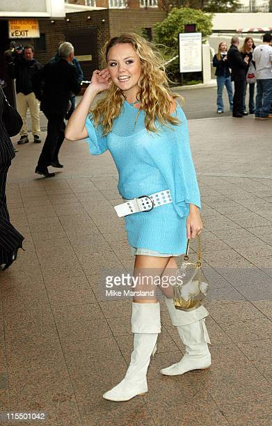 Charlie Brooks during 2004 Capital FM Awards Arrivals at Royal Lancaster Hotel in London Great Britain