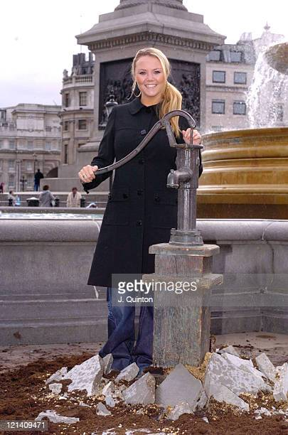 Charlie Brooks during World Vision Photocall Charlie Brooks at Trafalgar Square in London England Great Britain