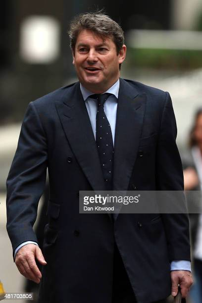 Charlie Brooks husband of former News International chief executive Rebekah Brooks arrives at the Old Bailey on March 31 2014 in London England...