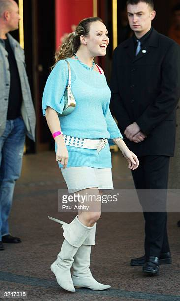 Charlie Brooks leaves the Capital FM Awards April 7, 2004 at the Lancaster Gate Hotel in London.