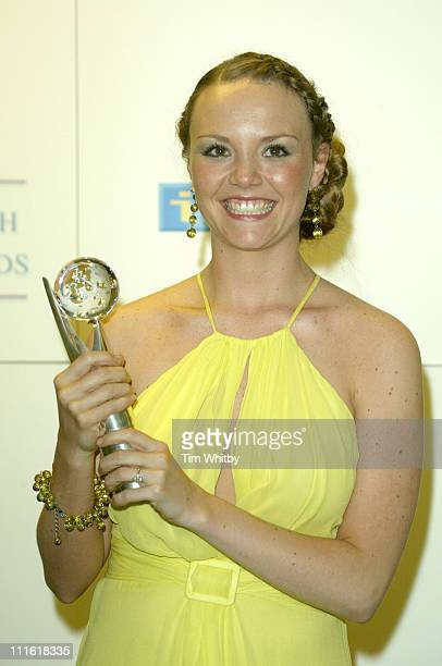 Charlie Brooks Winner of Best Exit Award during The 2005 British Soap Awards Press Room at BBC Television Centre in London Great Britain