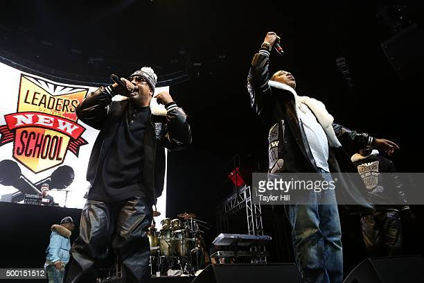 """Charlie Brown and Dinco D perform during Hot 97's """"Busta Rhymes and Friends: Hot for the Holidays"""" at Prudential Center on December 5, 2015 in..."""