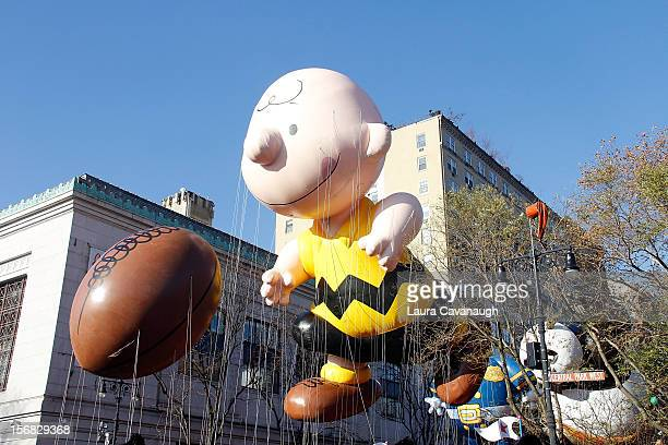 Charlie Brown balloon floats at the 86th Annual Macy's Thanksgiving Day Parade on November 22, 2012 in New York City.