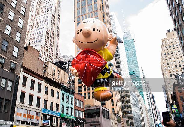 Charlie Brown balloon is seen at the 90th Annual Macy's Thanksgiving Day Parade on November 24, 2016 in New York City.