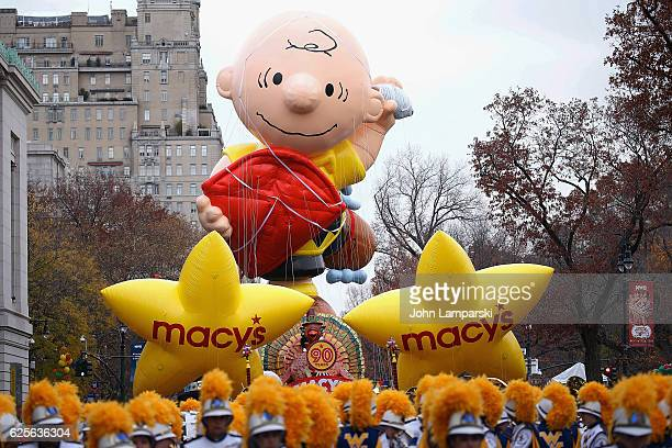 Charlie Brown Balloon is seen during the 90th Annual Macy's Thanksgiving Day Parade on November 24 2016 in New York City