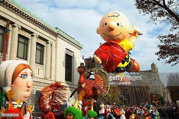 Charlie Brown Balloon is seen during the 90th Annual Macy's Thanksgiving Day Parade on November 24, 2016 in New York City.