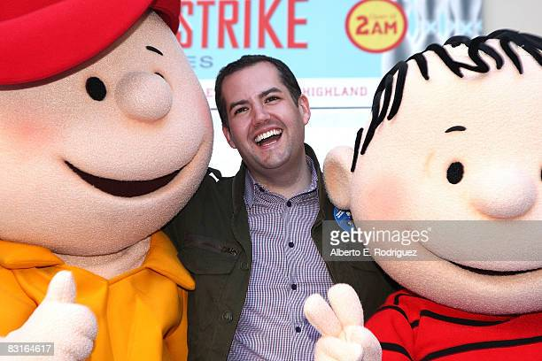 Charlie Brown TV personality Ross Mathews and Linus Van Pelt attend the DVD release for Warner Home Video's 'You're Not Elected Charlie Brown' held...
