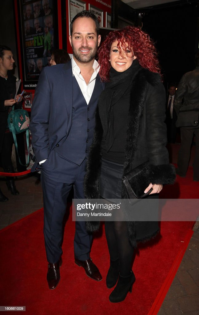 Charlie Bruce and boyfriend attend the press night for Siro-A show, described as Japan's version of the Blue Man Group at Leicester Square Theatre on February 4, 2013 in London, England.