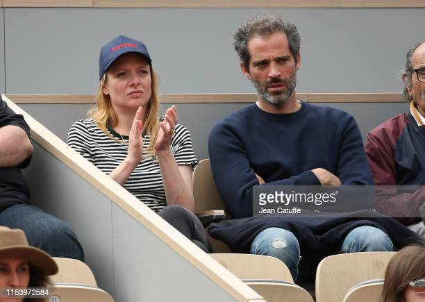Charlie Bruneau and JeanBaptiste Pouilloux attend day 5 of the 2019 French Open at Roland Garros stadium on May 30 2019 in Paris France