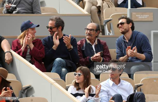 Charlie Bruneau and JeanBaptiste Pouilloux Gerard Hernandez attend day 5 of the 2019 French Open at Roland Garros stadium on May 30 2019 in Paris...