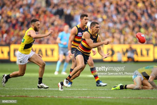 Charlie Cameron of the Crows handpasses during the 2017 AFL Grand Final match between the Adelaide Crows and the Richmond Tigers at Melbourne Cricket...