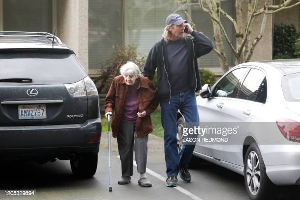 Charlie Campbell a retired RN from Silver City New Mexico accompanies his mom Dorothy Campbell of Bothell to see her husband Gene Campbell through...