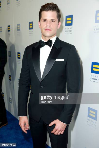 Charlie Carver attends The Human Rights Campaign 2018 Los Angeles Gala Dinner at JW Marriott Los Angeles at LA LIVE on March 10 2018 in Los Angeles...