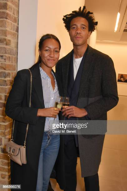 Charlie CaselyHayford and guest attend the Cerruti 1881 50th anniversary film premiere at The Serpentine Sackler Gallery on October 25 2017 in London...