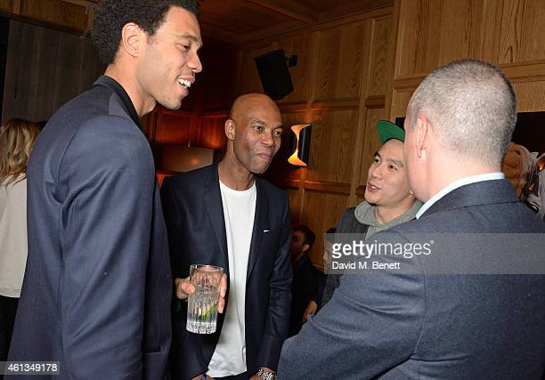 Charlie CaselyHayford Joe CaselyHayford Dan Peres Details Magazine EditorinChief and Eugene Tong Details Magazine Style Director attend as Details x...