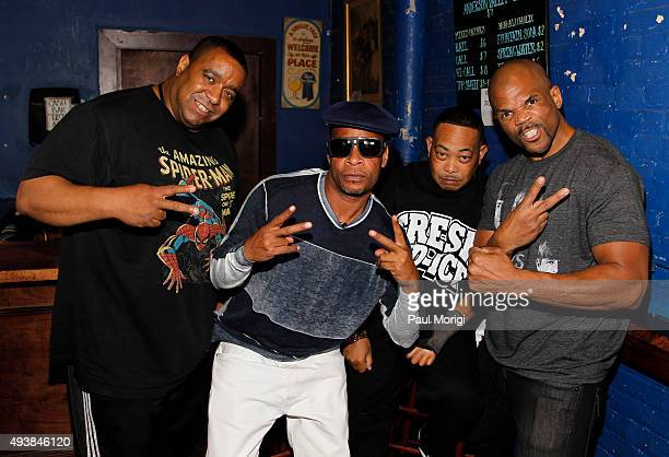 DJ Charlie Chan Brother Marquis and Fresh Kid Ice of 2 Live Crew and Darryl DMC McDaniels of Run DMC backstage at Rock The Vote's #TBT 25th...