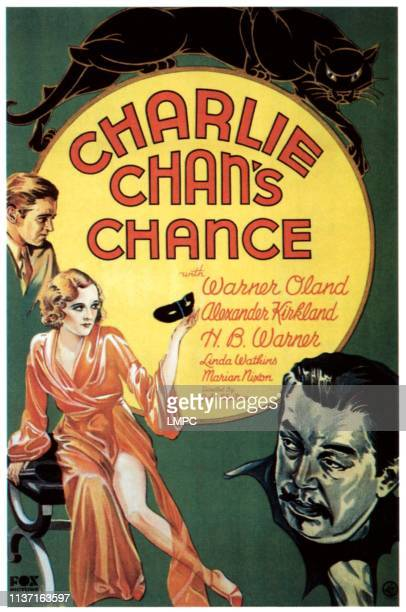 Charlie Chan's Chance poster let from top Alexander Kirkland Marian Nixon bottom right Warner Oland 1932