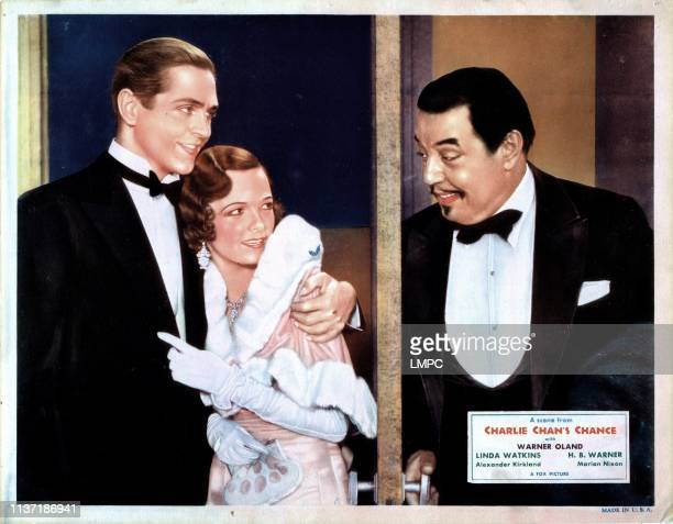 Charlie Chan's Chance, US lobbycard, Alexander Kirkland, Marian Nixon, Warner Oland, 1932.