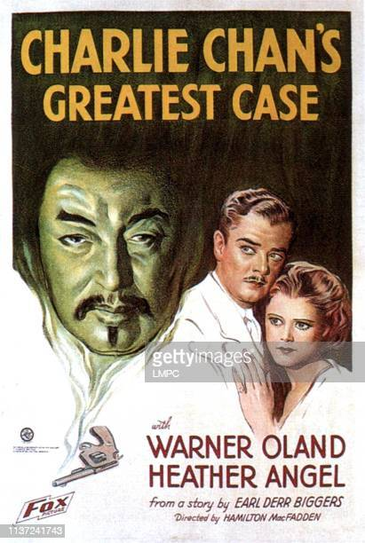 Charlie Chan's Greatest Case poster US poster art from left Warner Oland as Charlie Chan John Warburton Heather Angel 1933